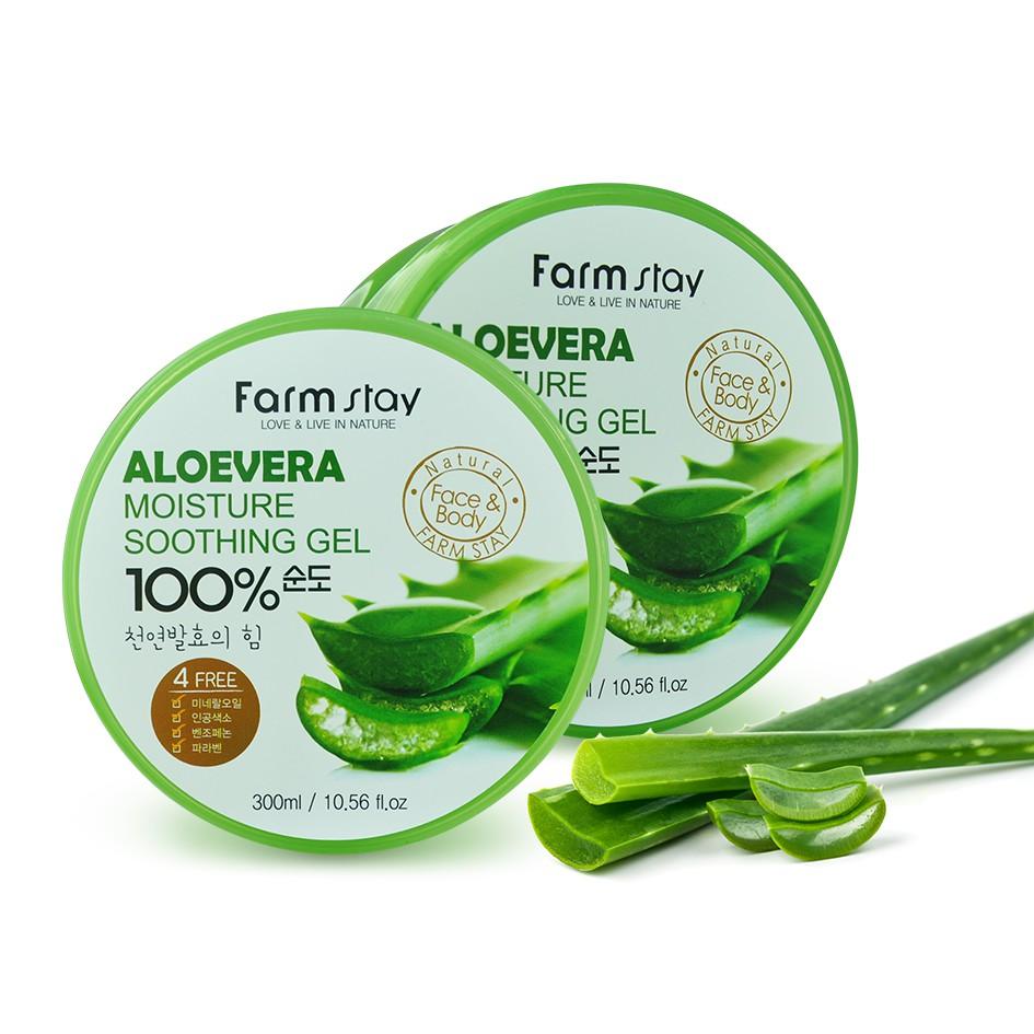 Gel-nha-đam-Aloe-Vera-100%-Farm-Stay