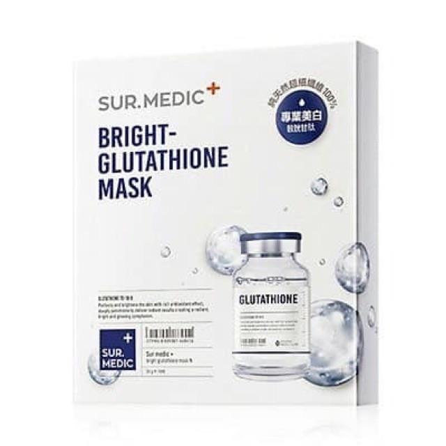 Mặt-nạ-chống-lão-hóa-dưỡng-trắng-da-chuyên-sâu-Sur.Medic-Bright-Glutathione-Mask